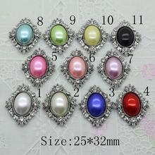 New 10pc Retro color pearl button rhinestone button 2017 Wedding decoraation clothing metal button DIY Accessories