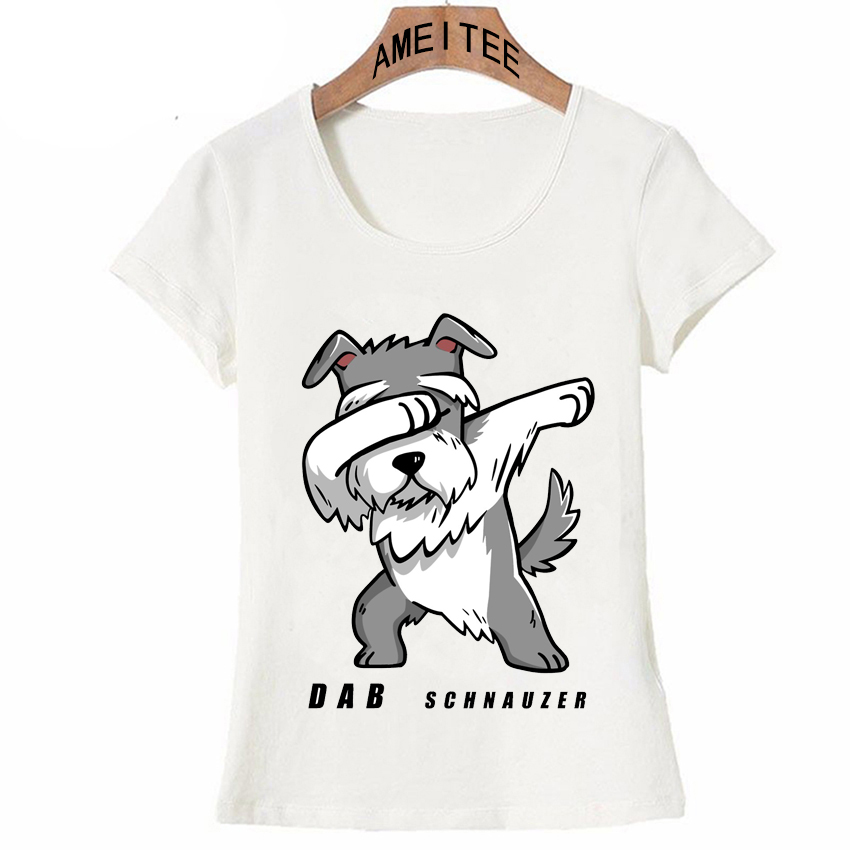 f8d8769d Detail Feedback Questions about New Summer Fashion Women T Shirts Dabbing  Schnauzer Dog Funny T Shirt Cute Dog Panda Dab Design Casual Tops Hipster  Hip Hop ...