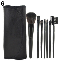 Popular 7Pcs  Professional Cosmetic Makeup Brush  Tool Powder Blush Eyelash Brow Concealer Lip Brushes Kit Set