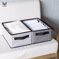 Luluhut новая моющаяся складная коробка для хранения одежды складное нижнее белье носки для хранения лифчиков контейнер хлопок liene рубашки кор...
