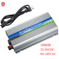 MAYLAR@ 20 50Vdc 1000W Solar Pure Sine Wave Grid Tie MPPT Inverter Output 90 140V 50hz/60hz For Alternative Energy Home System