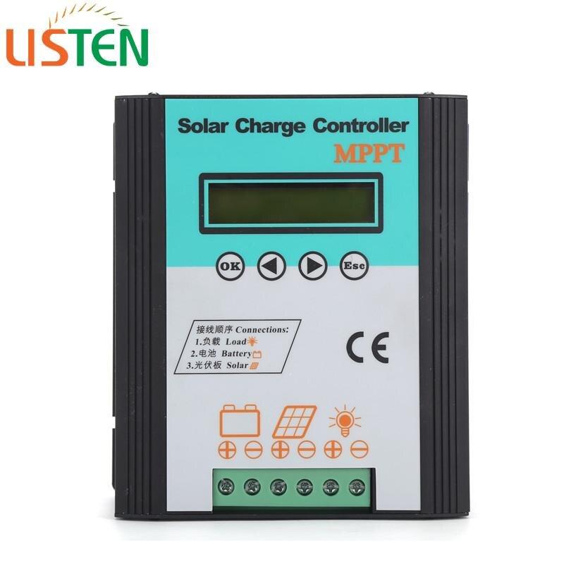 Contrôleur de charge solaire 12/24 v 20A MPPT avec écran LCD