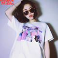 Harajuku Shirt Women TShirt Cartoon Letters Sailor Moon Girls Tops Japanese Anime Casual Summer Kawaii Shirts WXC