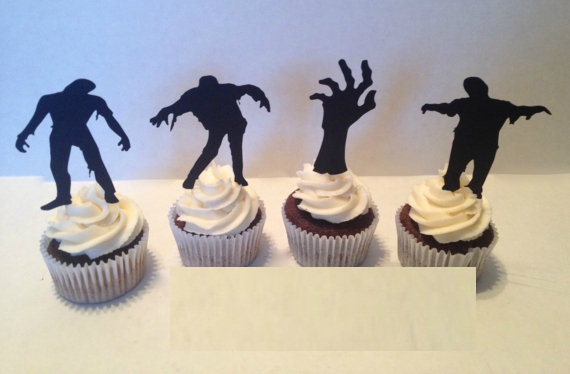 halloween zombie party picks cupcake toppers baby shower wedding birthday toothpicks decor topper in cake decorating supplies from home garden on