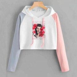 Shawn Mendes Cropped Hoodie Women Long Sleeve Short Sweatshirt with Hood Ladies Hip Hop Pullover Tops Female 3