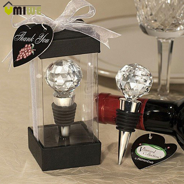 Wedding Decor Wine Champagne Stopper Elegant Crystal Red Bottle Reusable Vacuum Sealed Party