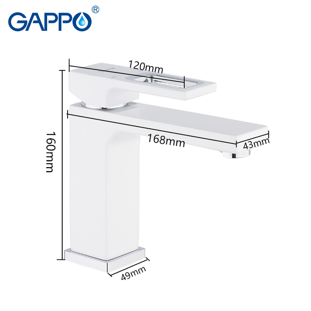 GAPPO basin faucets basin mixer sink faucet bathroom water mixer white brass faucets water faucet deck mount torneira 2