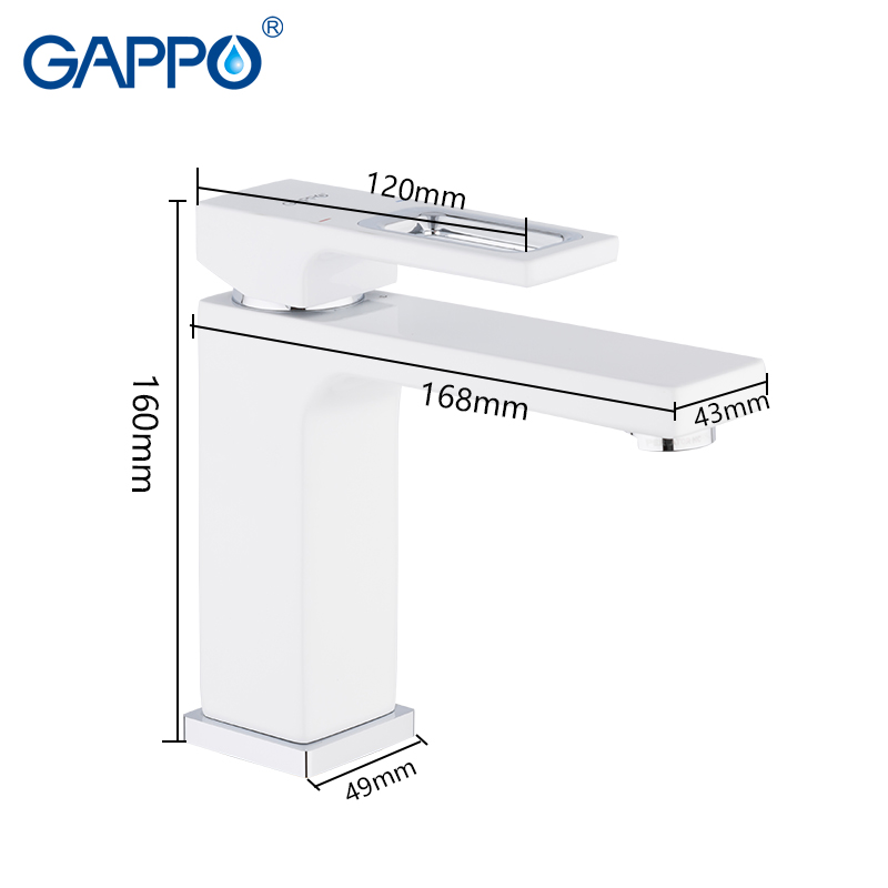 Image 2 - GAPPO basin faucets basin mixer sink faucet bathroom water mixer white brass faucets water faucet deck mount torneira-in Basin Faucets from Home Improvement