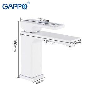 Image 2 - GAPPO rubinetti del bacino di miscelatore del bacino lavandino rubinetto del bagno miscelatore acqua bianco in ottone rubinetti acqua di rubinetto del bagno deck mount torneira
