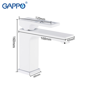 Image 2 - Gappo 流域水栓流域ミキサーシンクの蛇口浴室の水ミキサー白真鍮蛇口水蛇口デッキマウント torneira