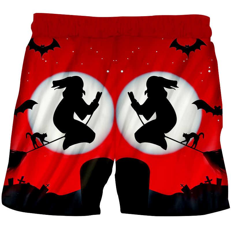 Cjlm lua branca dia das bruxas homem 3d impresso vassoura bruxa e morcego a nova listagem calções de cordão masculino