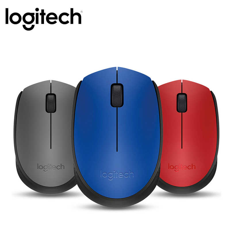 Logitech M170 2.4 GHZ Wireless Mouse 1000 Dpi 3 Tombol Dua Way Tikus dengan Nano Receiver Untuk PC komputer