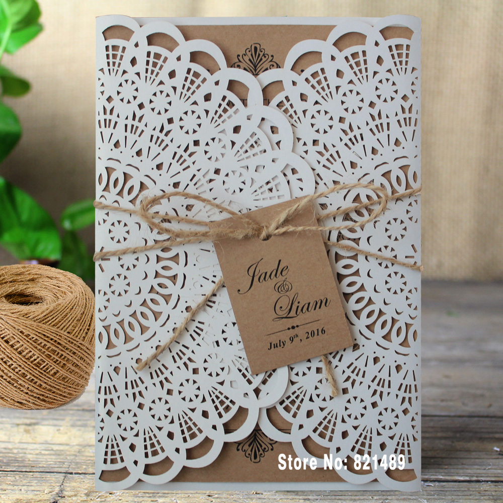 Rustic Wedding Invitations Bridal Showe Invitation Cards Custom