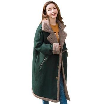 Winter Jacket Women Parka Chaqueta Mujer Suede Lambs Wool Jacket Women Long Cotton Coat Parkas Warm Outwear Winter Coat C4616