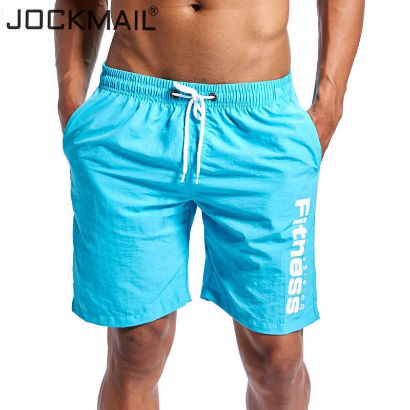 Jockmail marca 2018 novo verão secagem rápida dos homens shorts na altura do joelho dos homens board shorts praia curto masculino quente