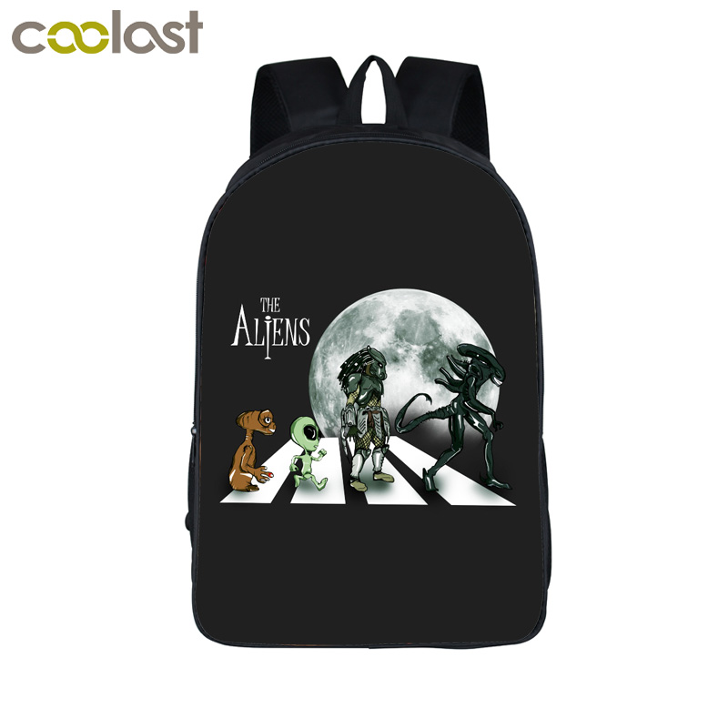 Cool Alien Predator Backpack Horrible Face Hug Children School Bags For Teenage Kids School Backpack Bag Men Travel Bags