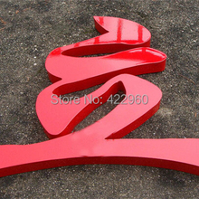 Factoy Outlet Outdoor Iron sheet  letter,galvanized steel letter with painting