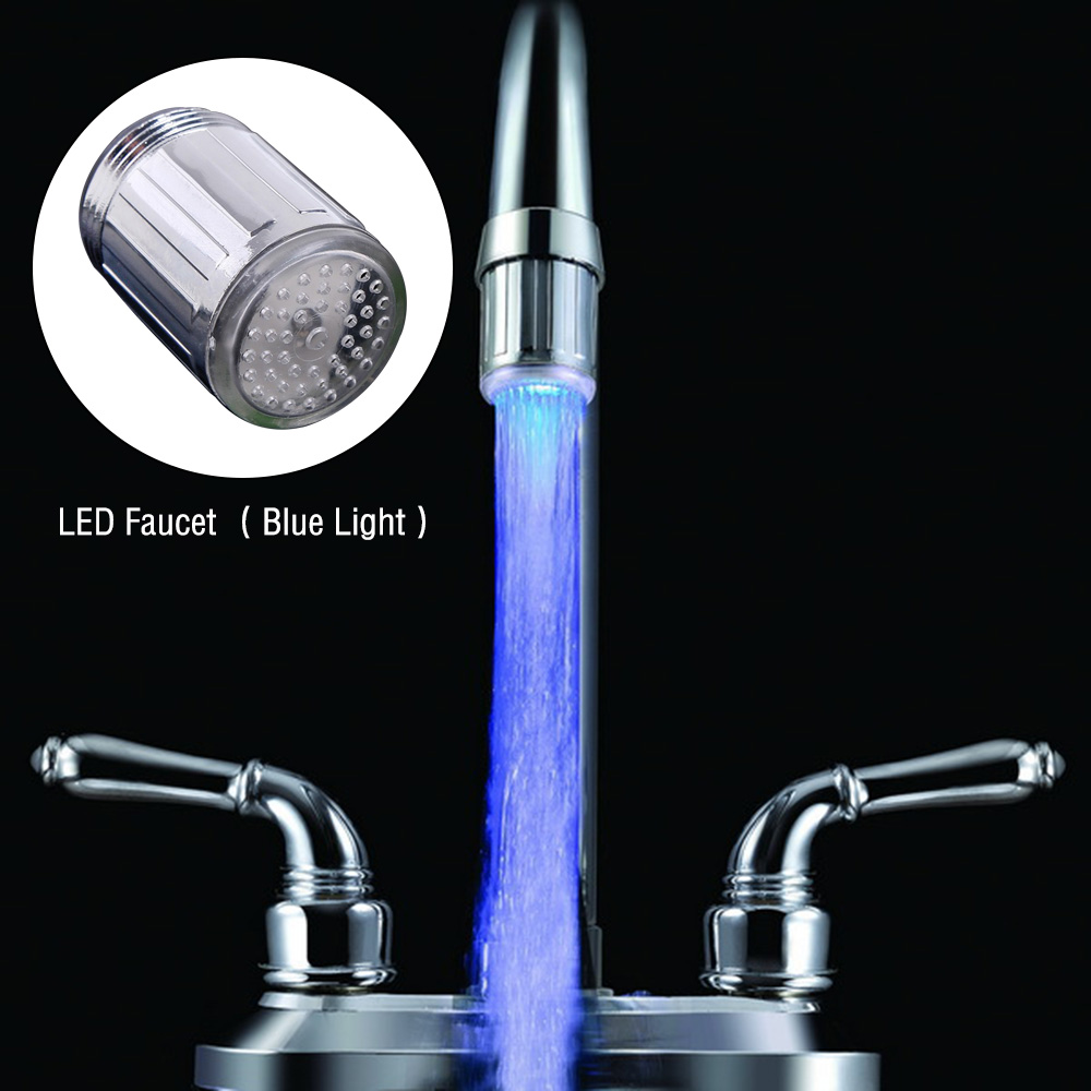 Led Water Faucet Stream Light Kitchen Bathroom Shower Tap