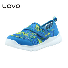 2017 New Kids Shoes For Girl Children Canvas Fashion Boys Sports Shoes Mesh Sneakers Breathable Children'S Shoes Uovo Brand