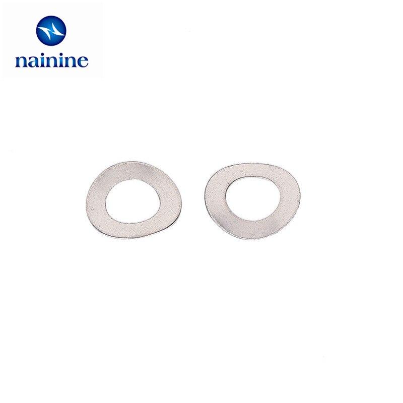 50Pcs 304 Stainless Steel Flat Machine Washer Plain Washer Gaskets M1.6-M14 **