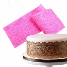 Dropshipping Lace Pattern Embellisment Silicone Mould Cake Decor Sugar