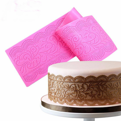 Dropshipping Lace Pattern Embellisment Silicone Mould Cake Decor Sugar Chocolate Mold Pakistan
