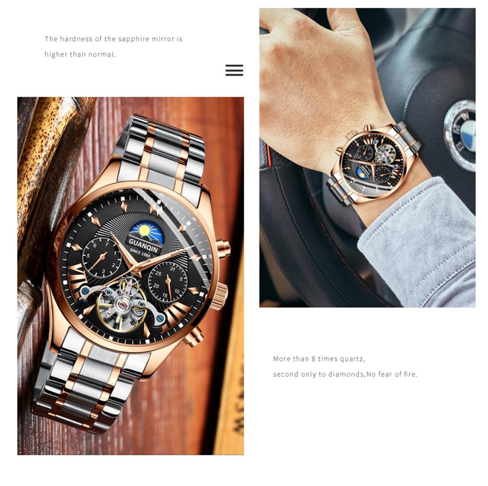 HTB1pXUlRmzqK1RjSZFpq6ykSXXac GUANQIN 2019 clock men's/mens watches top brand luxury automatic/mechanical/luxury watch men gold tourbillon mens reloj hombre