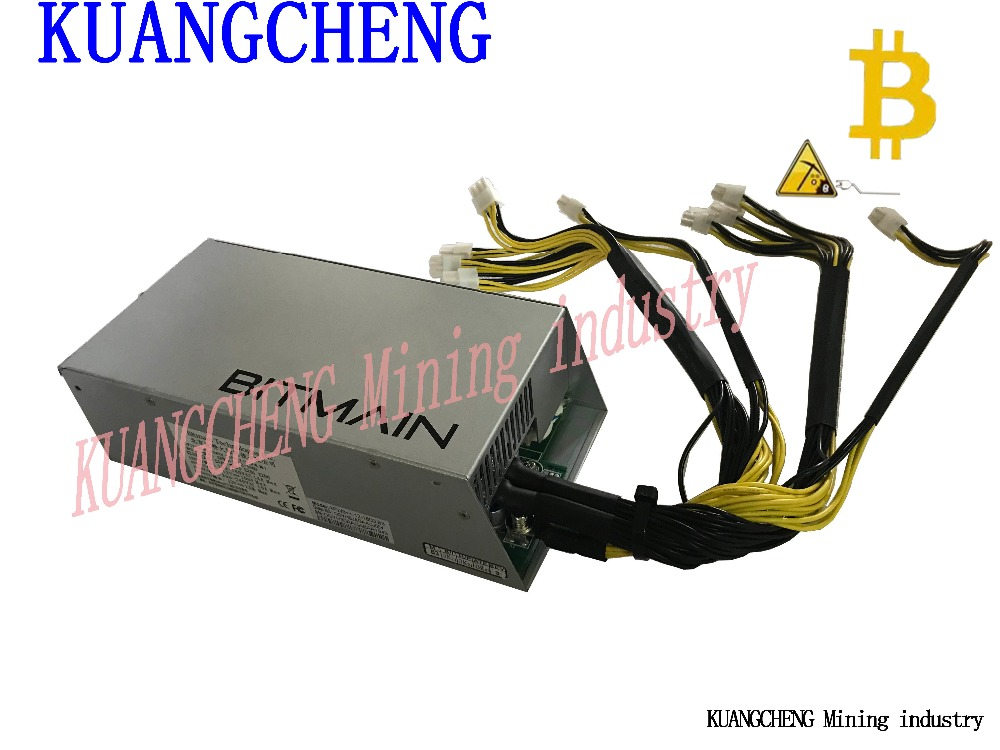 KUANGCHENG AntMiner 1600W APW3 + Power, Suitable For Bitmain S9, S7, S5, S4, L3 +, Or D3 Btc DASH Ltc MINERS Free Shipping