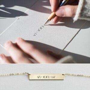 Image 2 - Ожерелье для рукописного ввода, настоящие украшения для рукописного ввода, ручная работа, Золотое заполнение, подвеска, чокер, женское украшение