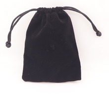 1 PCS Black Velvet Jewelry Gift Bag Pouch Drawstring Pouches Handmade 9X12cm