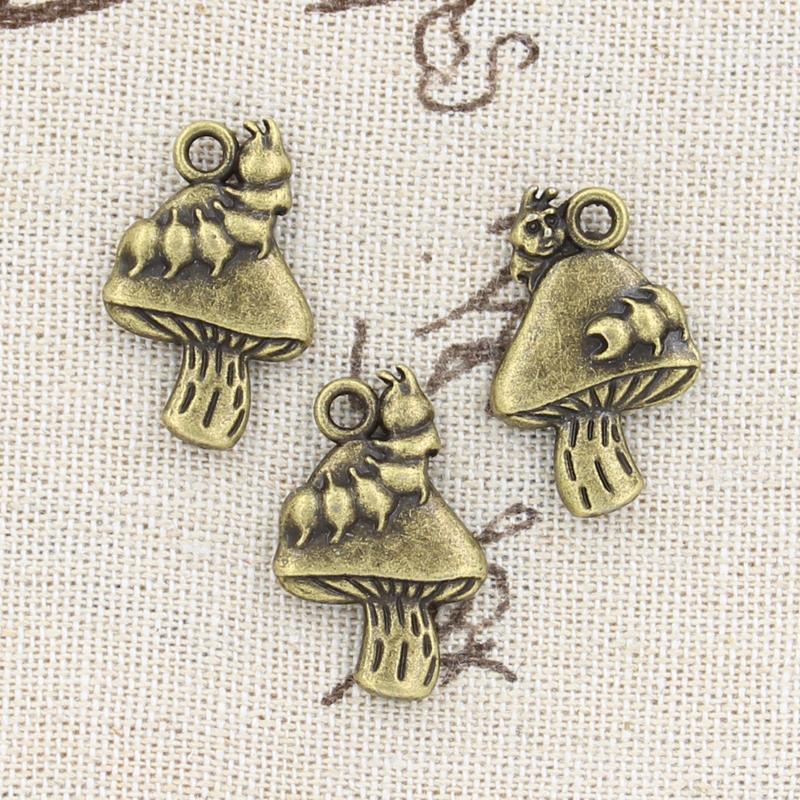 8pcs Charms mushroom 25*16mm handmade Craft pendant making fit,Vintage Tibetan Bronze,DIY for bracelet necklace
