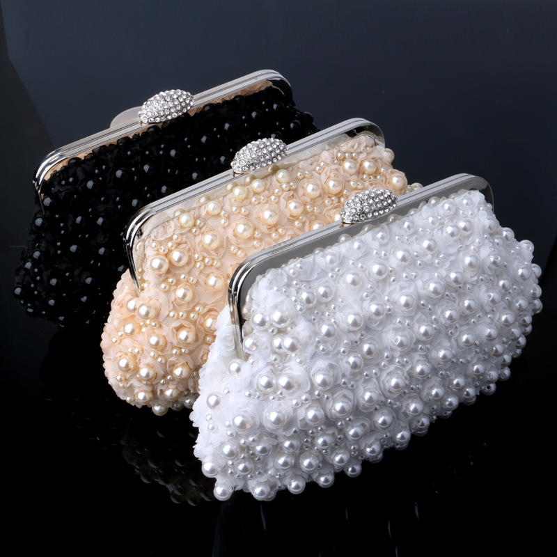 BICOLOR Evening Bag Two Sided Beaded Fashion Exquisite Beaded Noble Elegant  Pearl Clutch Bags Luxury Party Bag White Pearl New-in Crossbody Bags from  ... b40ab7ba1b27