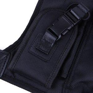 Image 3 - Nouveau talkie walkie poche poitrine pack sac à dos combiné radio titulaire sac pour GP340 CP040 BF UV 5R 888 S deux voies radios étui de transport