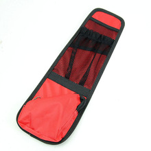 New Red Multi-Pocket Car Seat Side-back Storage Bag Cover Hanging Net Practical Organizer Bags High Quality