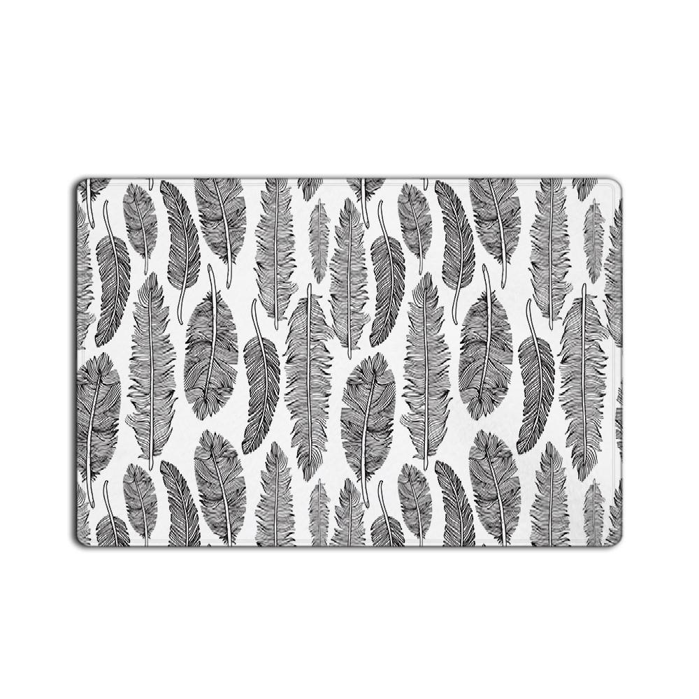 €11.05 40% de réduction CHARMHOME paillasson personnalisé tapis de porte  tapis plume gris tapis tapis salle de bain-in Tapis de sol de camping from  ...