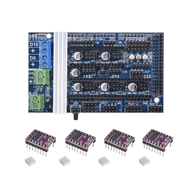 3d Printer Board Ramps 16 Upgrade Base On Ramps 14 15 Control