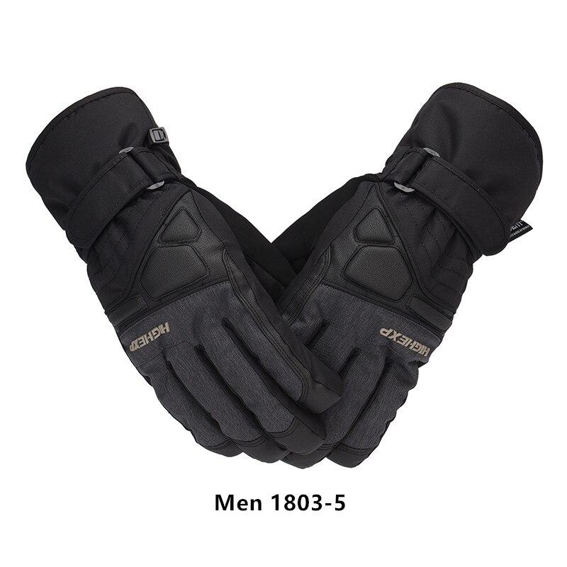 Gants pour homme d'hiver haute expérience gants de Ski pour hommes Ski de montagne et snowboard gants imperméables pour femmes moto