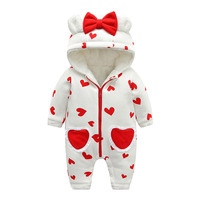 Baby Rompers Winter Fashion Baby girls Clothes Cotton Newborn Toddler Clothing Infant Jumpsuits New born Warm Outwear for 0 18M
