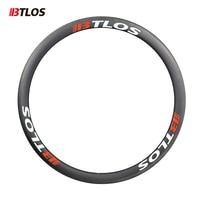 BTLOS RC 40AL خفيفة الفاصلة 700c الطريق الدراجة عجلات غير المتماثلة 2.6 مللي متر 40 مللي متر عمق V الفرامل الكربون دراجة عجلات-في عجلة دراجة من الرياضة والترفيه على