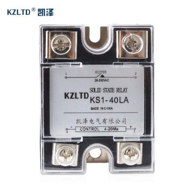 SSR 40LA Voltage Regulator Solid State 4 20MA to 28 280V AC Voltage Relay SSR 40A w/Cover relais KS1 40LA Quality Guarantee