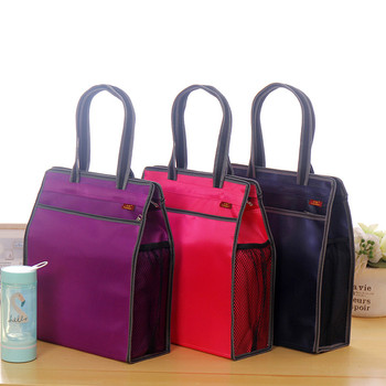 Durable A4 Portable Canvas Document Bag Zipper Waterproof Briefcase Multipurpose File Folders Storage Filling Escolar