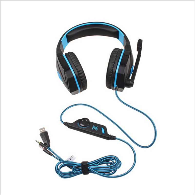 Original EACH G4000 Gaming Headset Over-ear Headphones Stereo Sound 2.2M Wired Earphones With Microhpne For PC Game casque panasonic rp hxs400m a sound rush plus on ear headphones