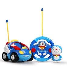Anime cartoon RC car model kids toys Action figure musical light Car Toys gift
