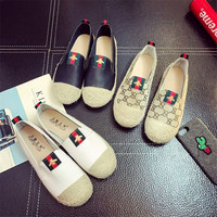Shoes woman New Arrival Retro Vintage Lazy's espadrilles Boat shoes flat for Female Larger Size Breathable chaussures femme