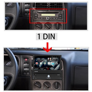 Image 2 - 1din Android 8.1 GO Quad Core voiture DVD GPS lecteur de Navigation 7 Universa autoradio WiFi Bluetooth MP5 lecteur multimédia