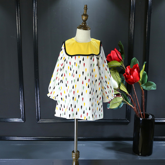 Children 's dress spring 2017 new children' s wear spring and summer long - sleeved Korean children dress