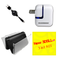 Nintendo  New 3DSLL/XL Soft TPU Protective Clear Case Shell Cover + AC Wall charger + Power Cable
