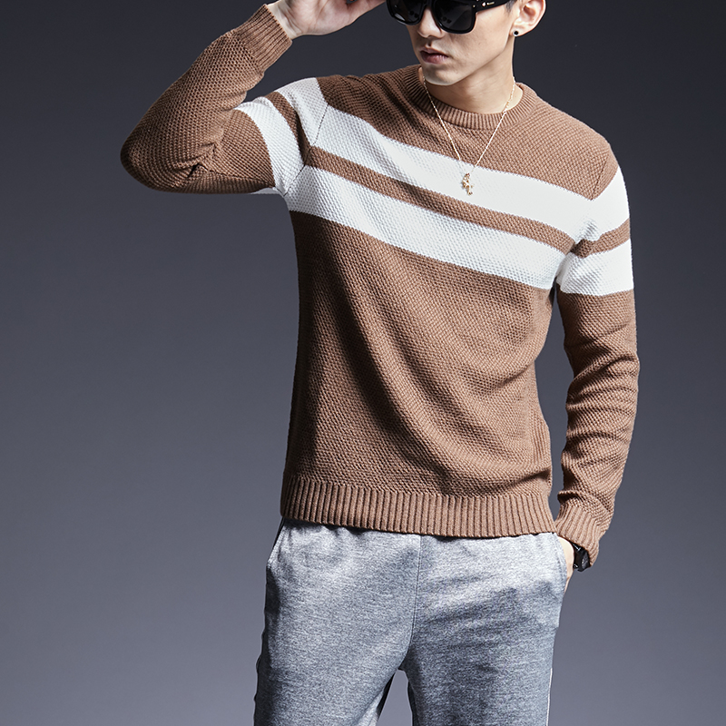 2019 New Fashion Brand Sweater For Mens Pullovers O-Neck Slim Fit Jumpers Knitred Thick Autumn Korean Style  Casual Men Clothes