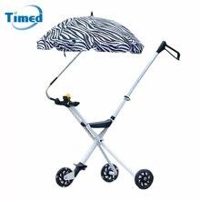 1 шт. Детские коляски Аксессуары зонтик красочные детские коляски Тенты зонтик Регулируемый складной Анти-УФ-зонтик для детей