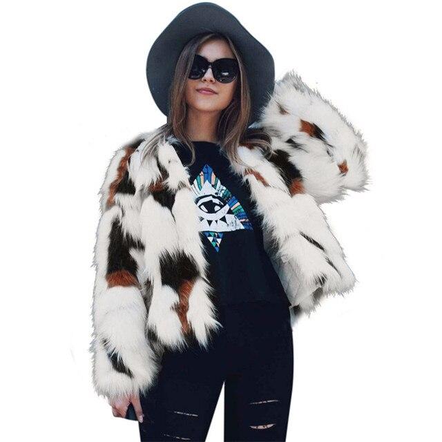 À Manches longues Femmes De Luxe De Fourrure De Lapin Manteau 2018 Hiver Épais chaud Fourrure Veste Dames Blanc Faux Manteau De Fourrure Femelle Gland Outwear